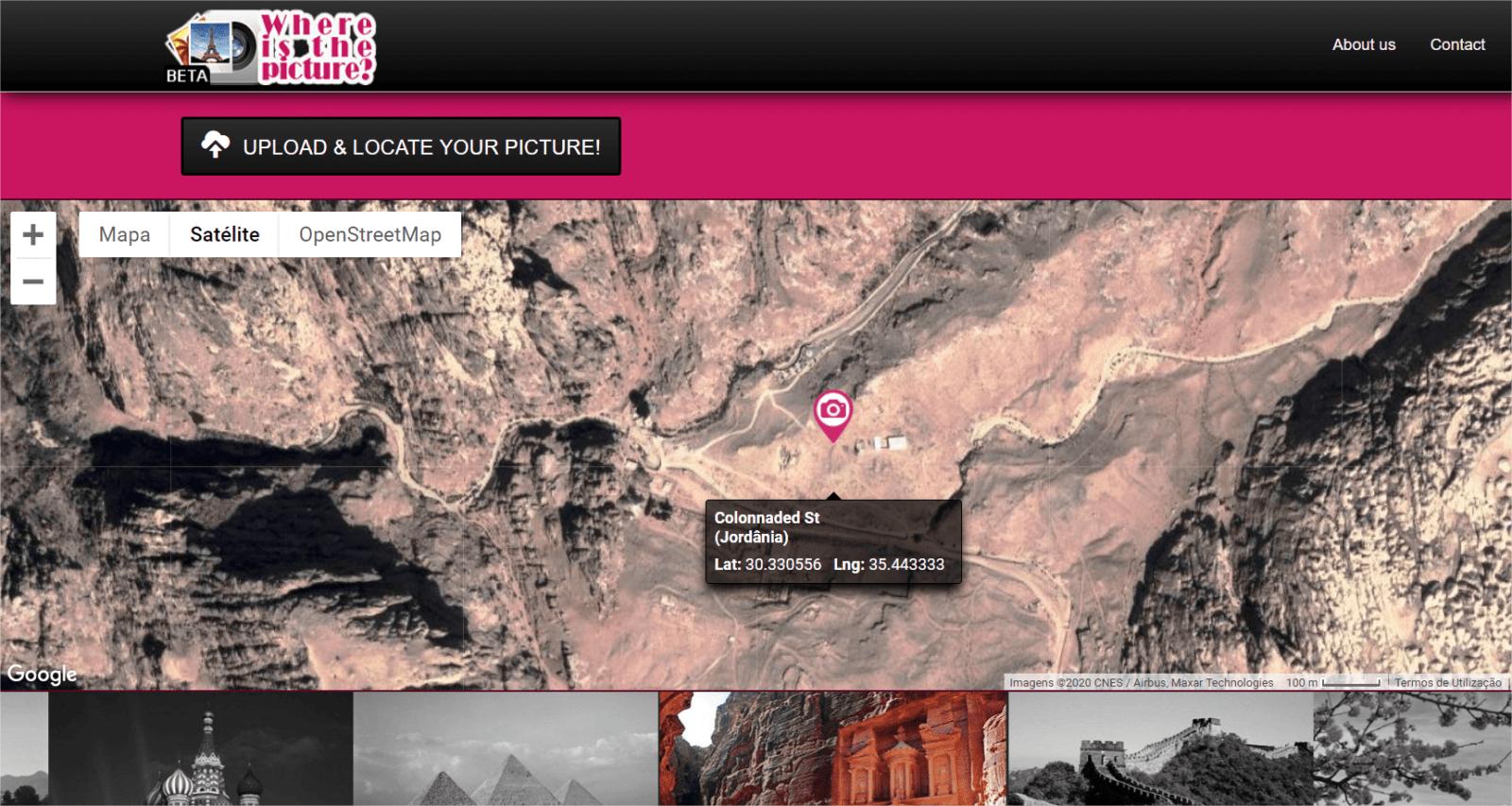 Localização fotografia mapa gps