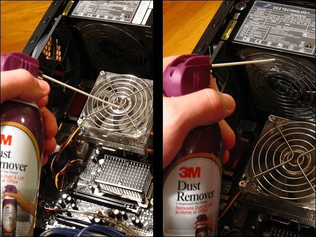 Como limpar o pó de um computador 16