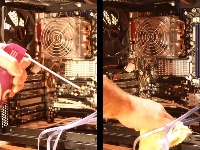 Como limpar o pó de um computador 18