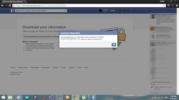 como exportar guardar e imprimir mensagens do facebook utilizando a opcao de descarregamento de dados do facebook