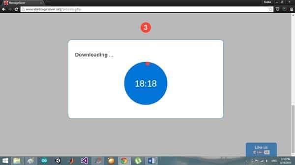 downloading archived messages