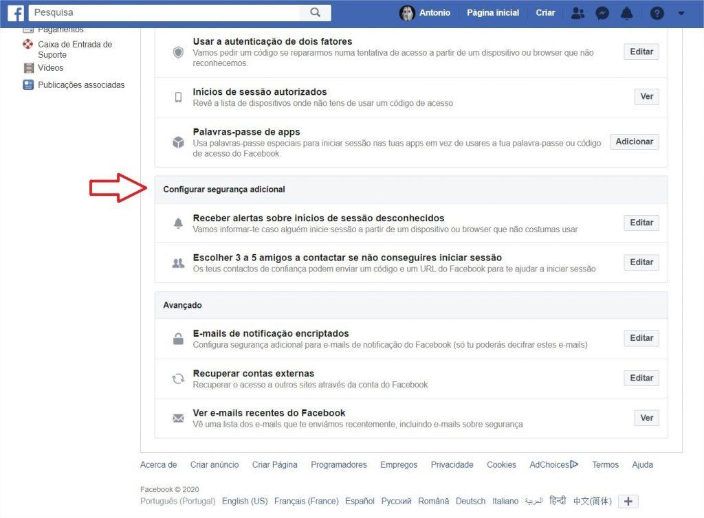 proteger facebook