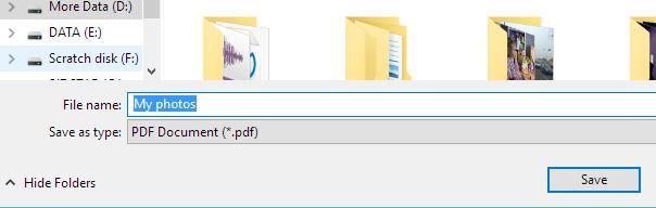 Como converter um ficheiro JPEG num PDF 4