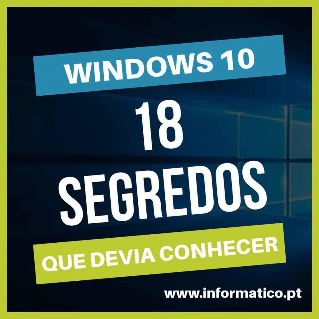 segredos windows 10 truques dicas