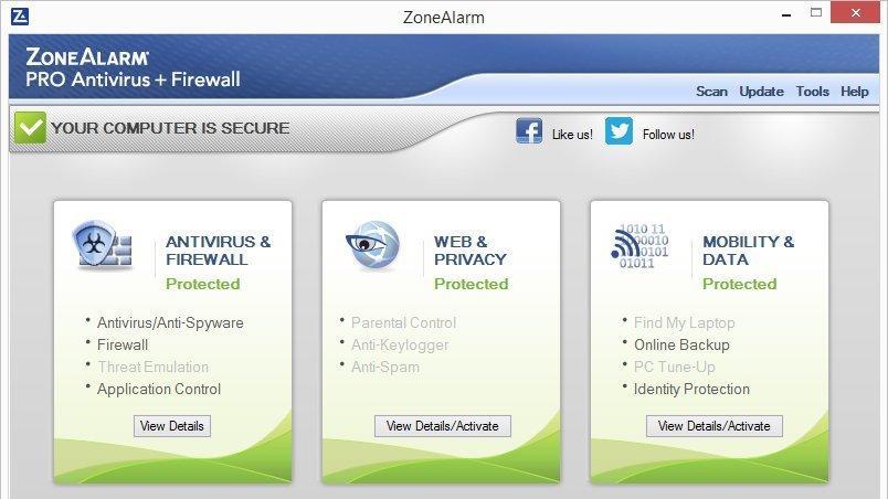 Check Point ZoneAlarm PRO Antivírus + Firewall 2017