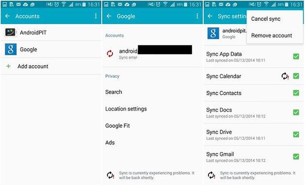androidpit google play error remove conta