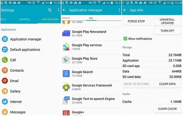 androidpit play store erros limpar cache de dados