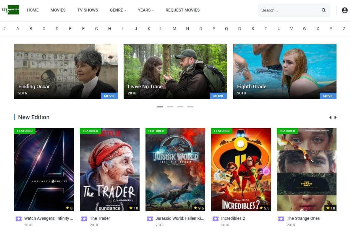 123moviesok Assista filmes grátis e programas de TV on-line