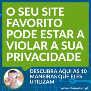 sites violam privacidade