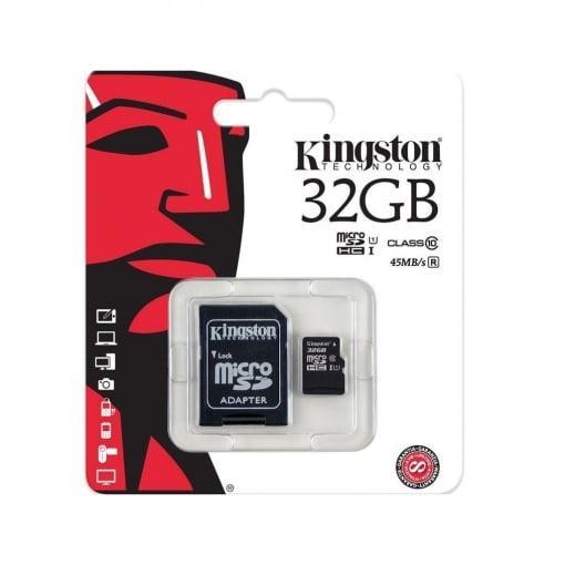 Cartão Micro SD 32GB – Kingston