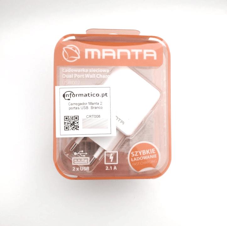 Carregador Manta 2 portas USB  Branco 1